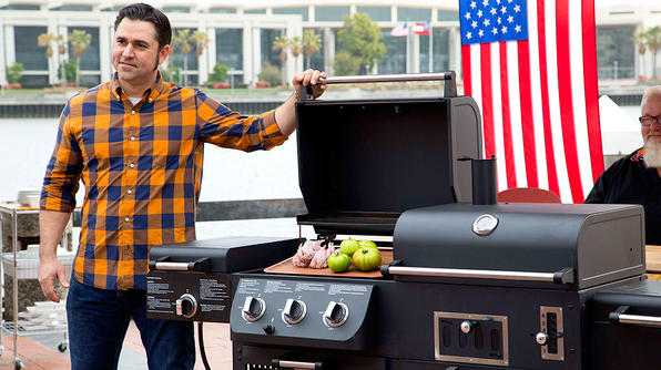 """Chef David Guas of Bayou Bakery, Coffee Bar & Eatery in Arlington will host """"American Grilled"""" on the Travel Channel this summer. (Photo: Travel Channel)"""