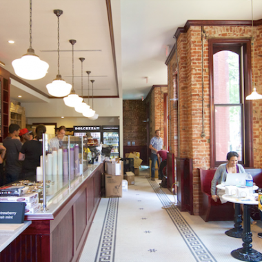 Dolcezza's newest location at 14th & P streets NW opened at 8 a.m. today. (Photo: Mark Heckathorn/DC on Heels)
