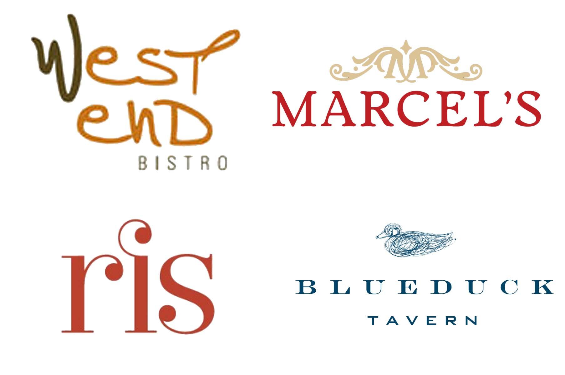 West End Wednesday, a progressive dinner series at West End Bistro, Marcel's, Ris and Blue Duck Tavern, ends July 30. (Illustraiton: Mark Heckathorn/DC on Heels)