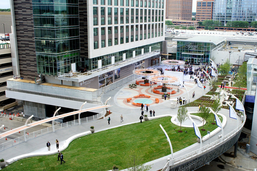 Tysons Corner Center's new outdoor plaza will host Friday night concerts through August. (Photo: Macerich)