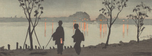 Sumida River by Night, Kobayashi Kiyochika; Japan, 1881 (Photo: Smithsonian Institution)