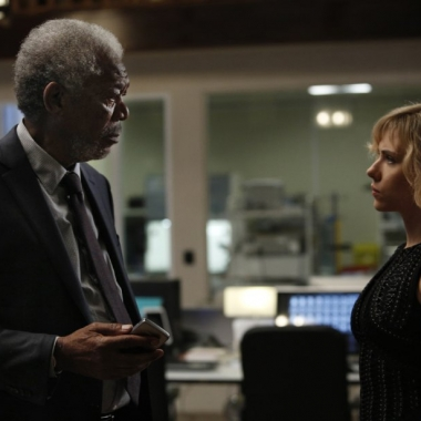 Morgan Freeman and Scarlett Johansson in