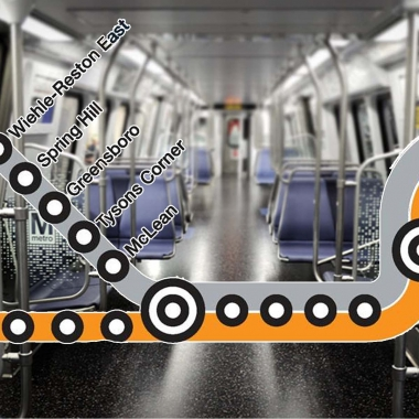 Five new stations on Metro's Silver Line open on July 26. (Graphic: Mark Heckathorn/DC on Heels)