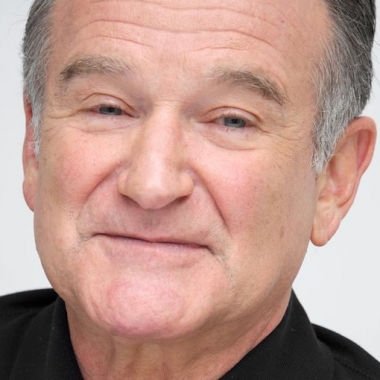 Robin Williams at a press conference for his CBS sitcom