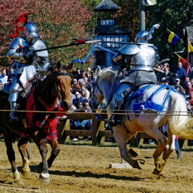 Jousters at the 2012 Maryland Renaissance Festival. (Photo: Chuck Dufur)