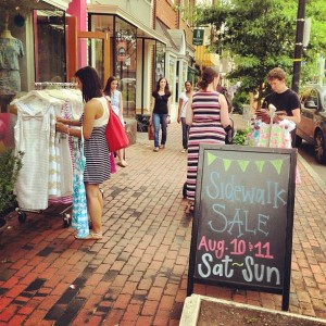 Shoppers at last years sidewalk sale in Alexandria. (Photo: Old Town Boutique District)
