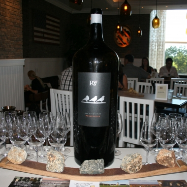 Virginia's RdV Winery has bottled a 2011 Bordeaux in this 18-liter bottles especially for America Eats Tavern in Tysons Corner. (Photo: Mark Heckathorn/DC on Heels)