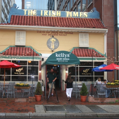 Kelly's Irish Times is surrounded by government and high-rise office buildings. (Photo: Mark Heckathorn/DC on Heels)
