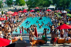 Sunday is the last Adult Swim pool party for the summer at Capitol Skyline Plaza. (Photo: Adult Swim/Facebook)