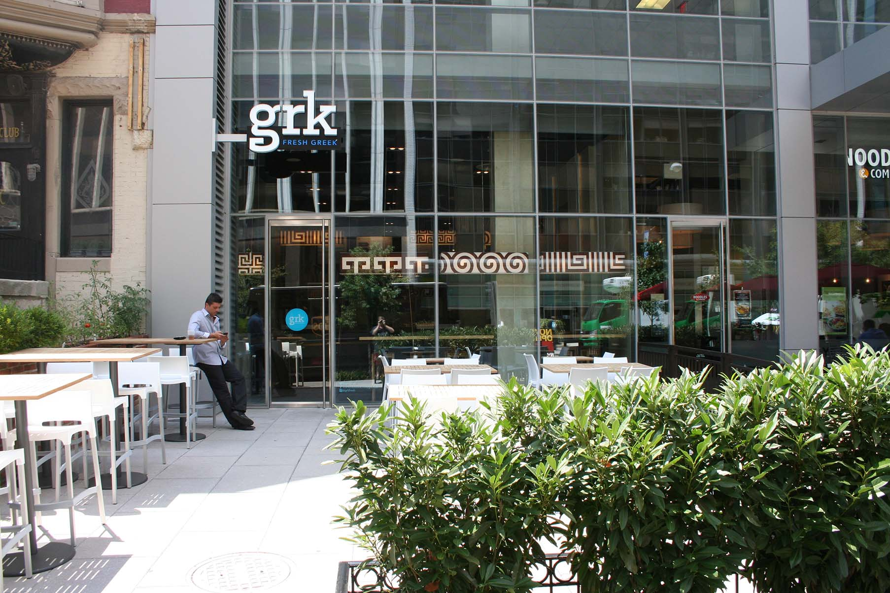 GRK Fresh Greek will stay open until 3 a.m. Fridays and Saturdays. (Photo: Mark Heckathorn/DC on Heels)