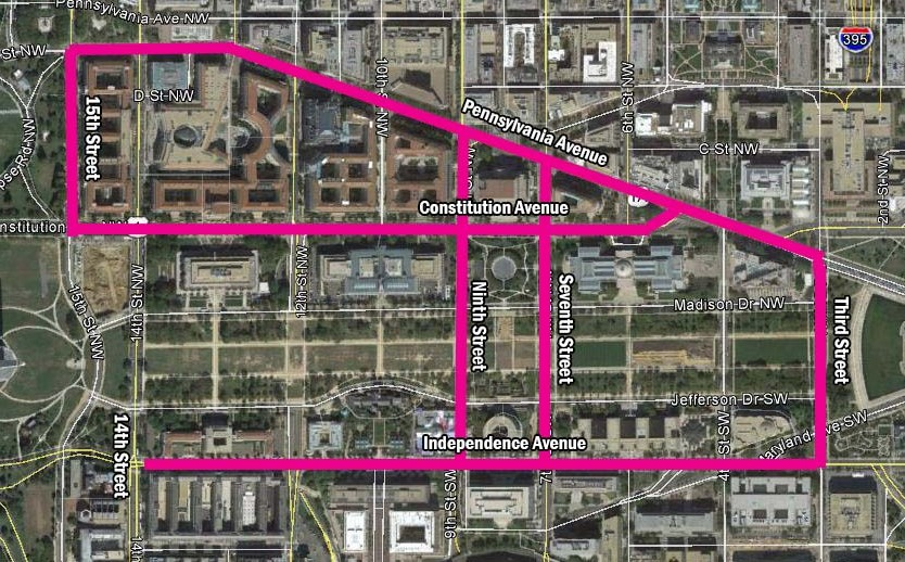 Here is where the series will be filming on Saturday. (Graphic: Mark Heckathorn/DC on Heels and Google Maps)