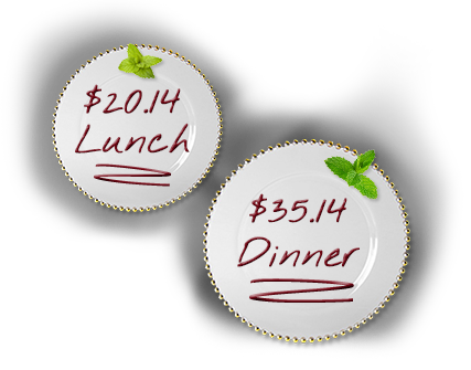 A prix fixe lunch is $20.14 and dinner is $35.14. (Graphic: Restaurant Association Metropolitan Washington)