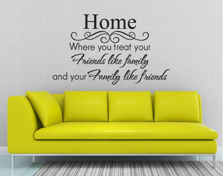Wall quote decals can give your house a personal life. (Photo: Aliexpress)