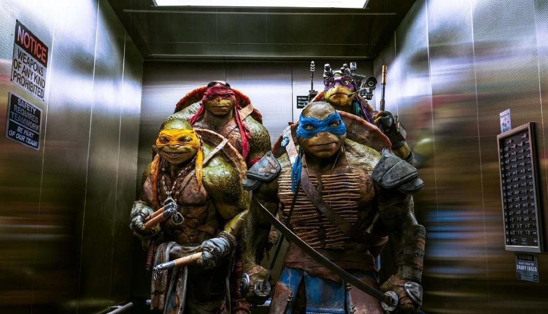 "The ""Teenage Mutant Ninja Turtles"" took the top at the box office last weekend. (Photo: Paramount Studios)"