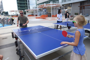 Kids 10 and over can attend table tennis camp on Sunday at The Plaza at Tysons Corner Center. (Photo: Shake Shack)