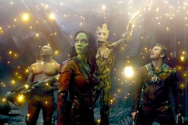 """""""Guardians of the Galaxy"""" held onto first place for the second weekend in a row, beating out two new releases. (Photo: Marvel)"""