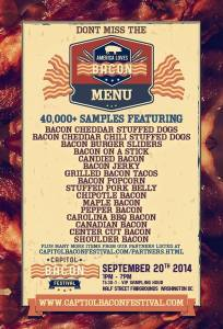 The Capitol Bacon Festival features over 40,000 bacon dishes. (Graphic: Capitol Bacon Festival/Facebook)