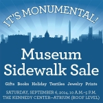 Start your holiday shopping at the Kennedy Center's Museum Sidewalk Sale. (Graphic: Kennedy Center)