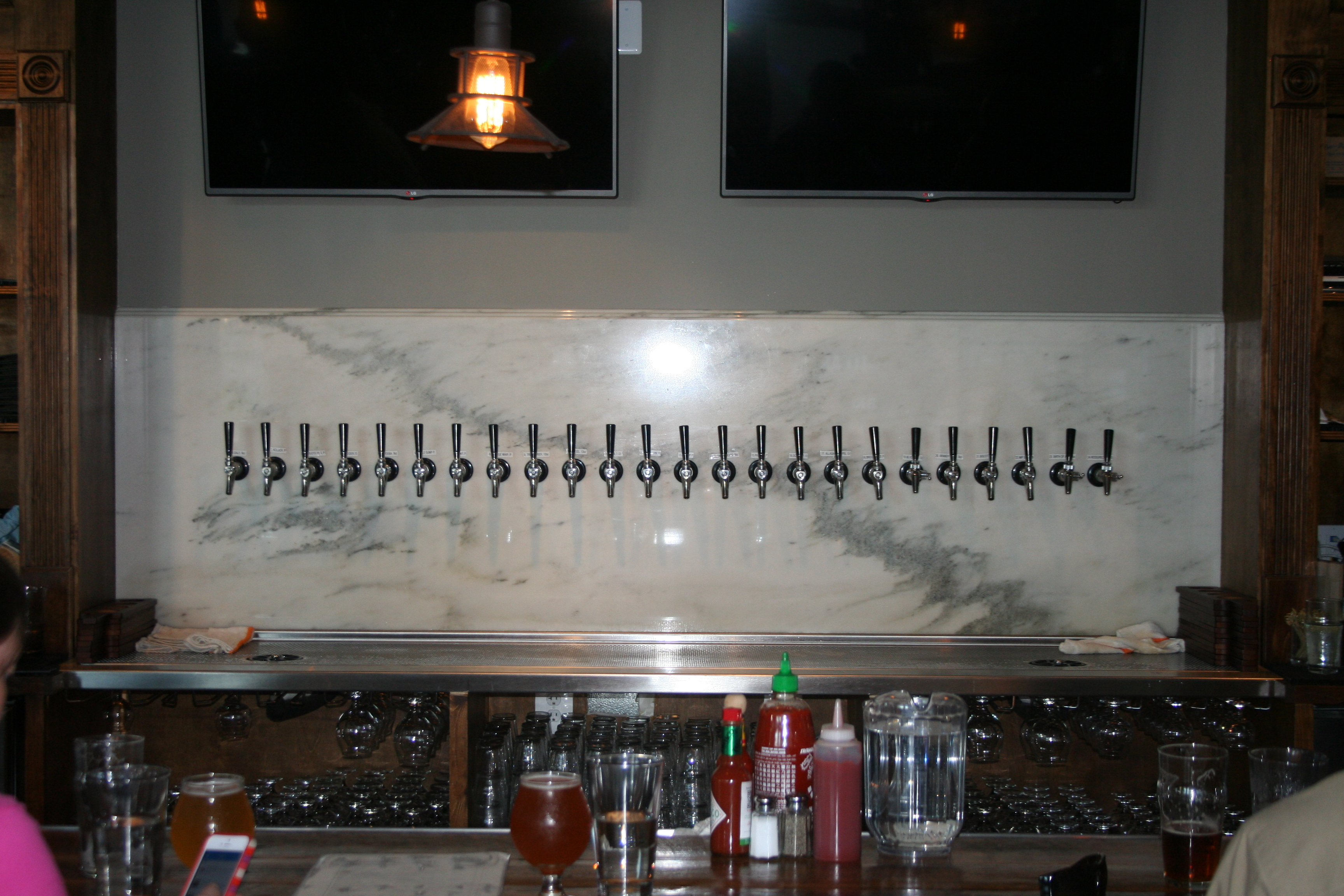 Brookland Pint serves 24 rotating beers on tap. (Photo: Mark Heckathorn/DC on Heels)