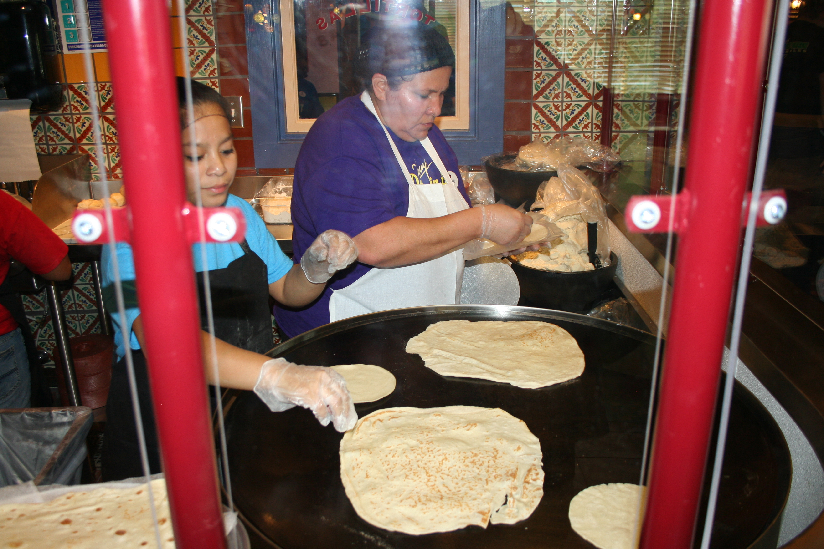 Employees make corn and flour tortillas on the traditional comal. (Photo: Mark Heckathorn/DC on Heels)