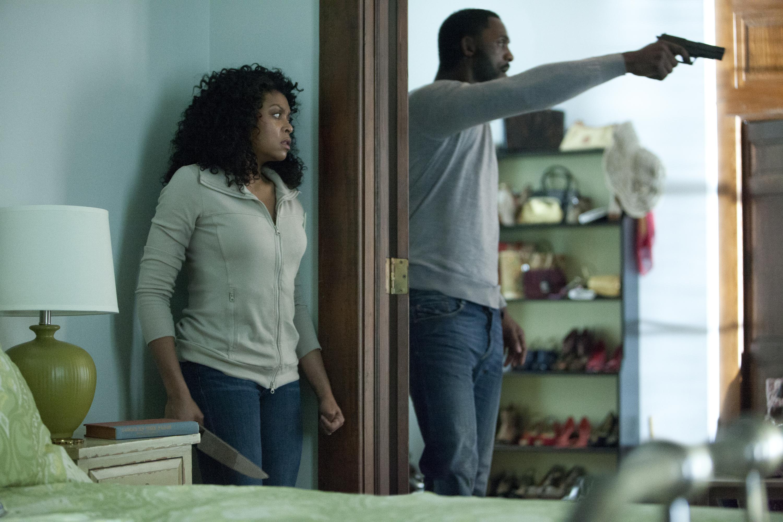 "Taraji P. Henson (left) and Idris Elba in ""No Good Deed."" (Photo: Quantrell Colbert/Screen Gems)"