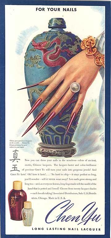 A 1940s nail polish ad. (Image: Etsy.com)