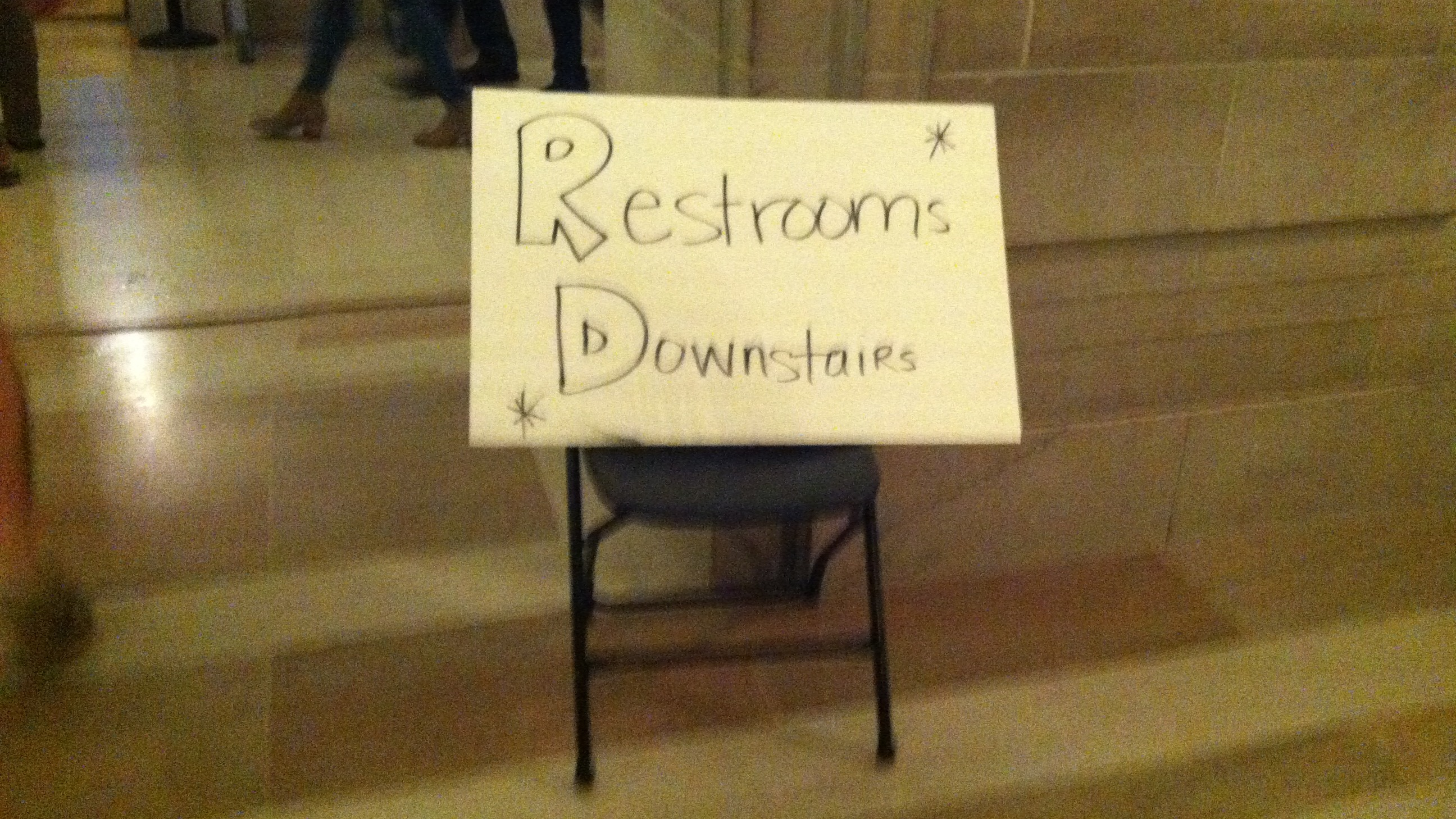 Restroom signs at the Beerfest (Photo: Lanna Nguyen/DC on Heels)