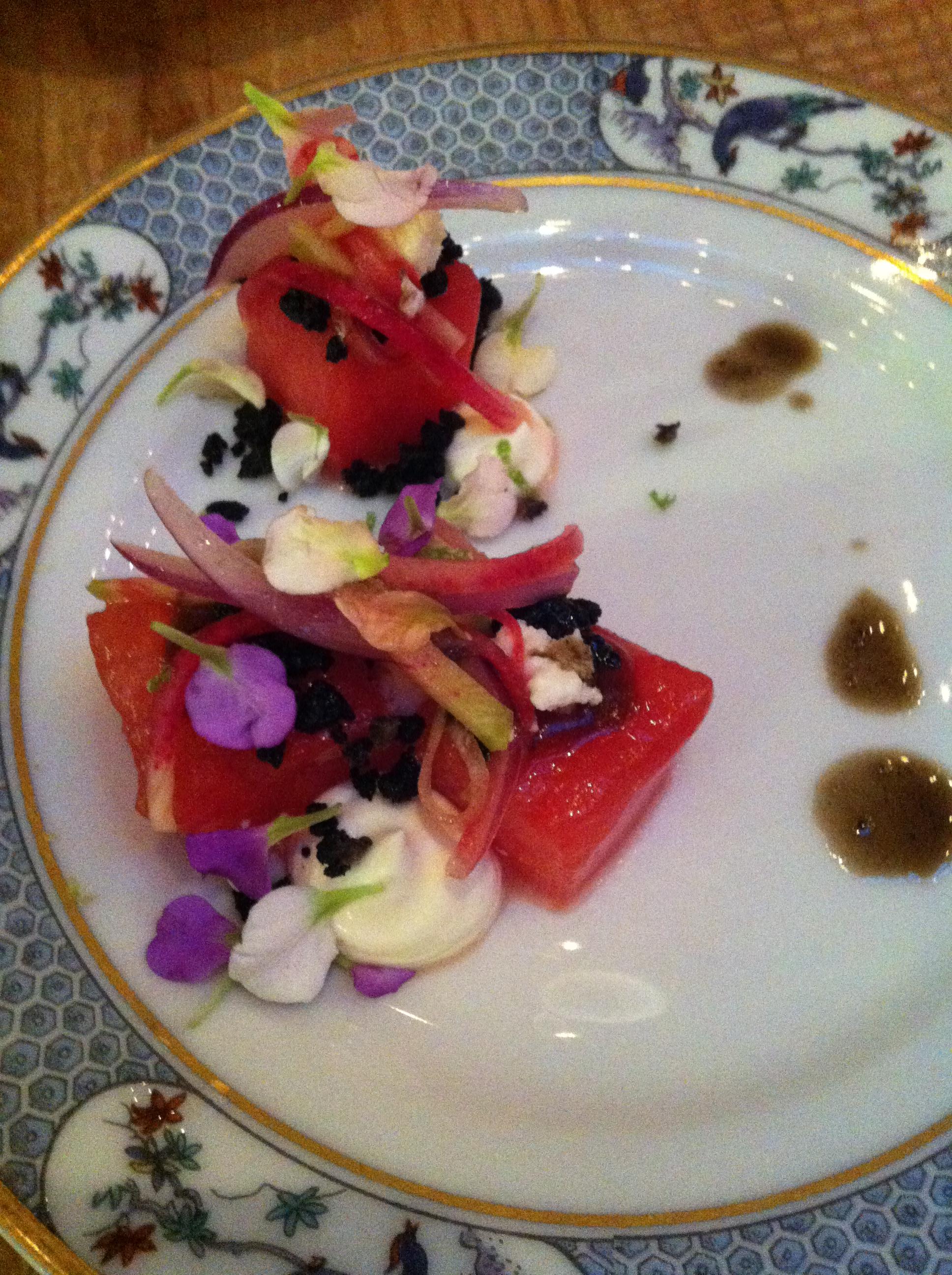 Watermelon salad (Photo: Lanna Nguyen/DC on Heels)
