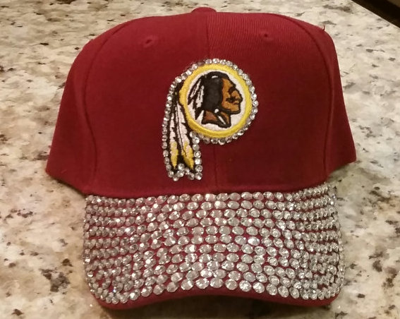 No more bedazzled Redskins caps on Etsy. (Photo: BlingBlingLicious/Etsy)