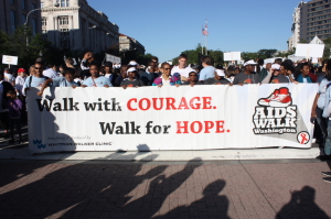 Walks at the Start of last year's AIDS Walk, now Walk to End HIV. (Photo: World on a Ping)