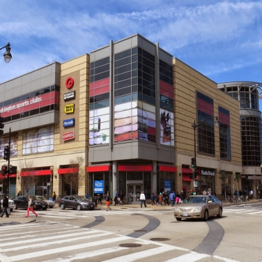 DC USA in Columbia Heights is a three-story shopping center across from a metro station. (Photo: Streets of Washington)