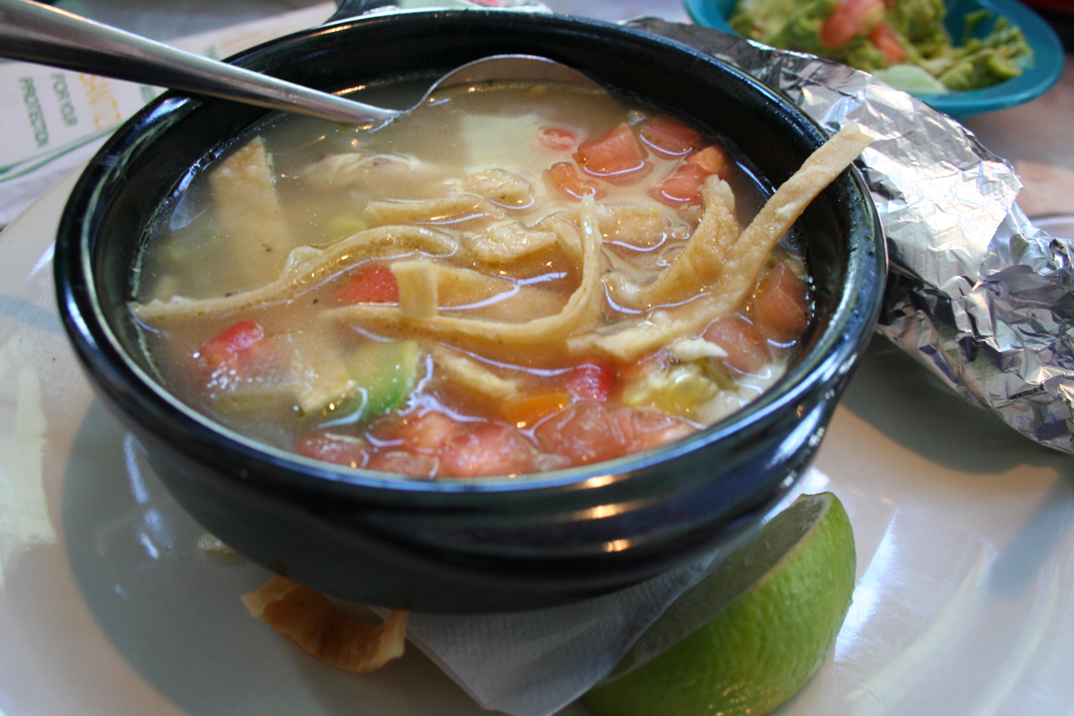 Chicken tortilla soup. (Photo: Mark Heckathorn/DC on Heels)
