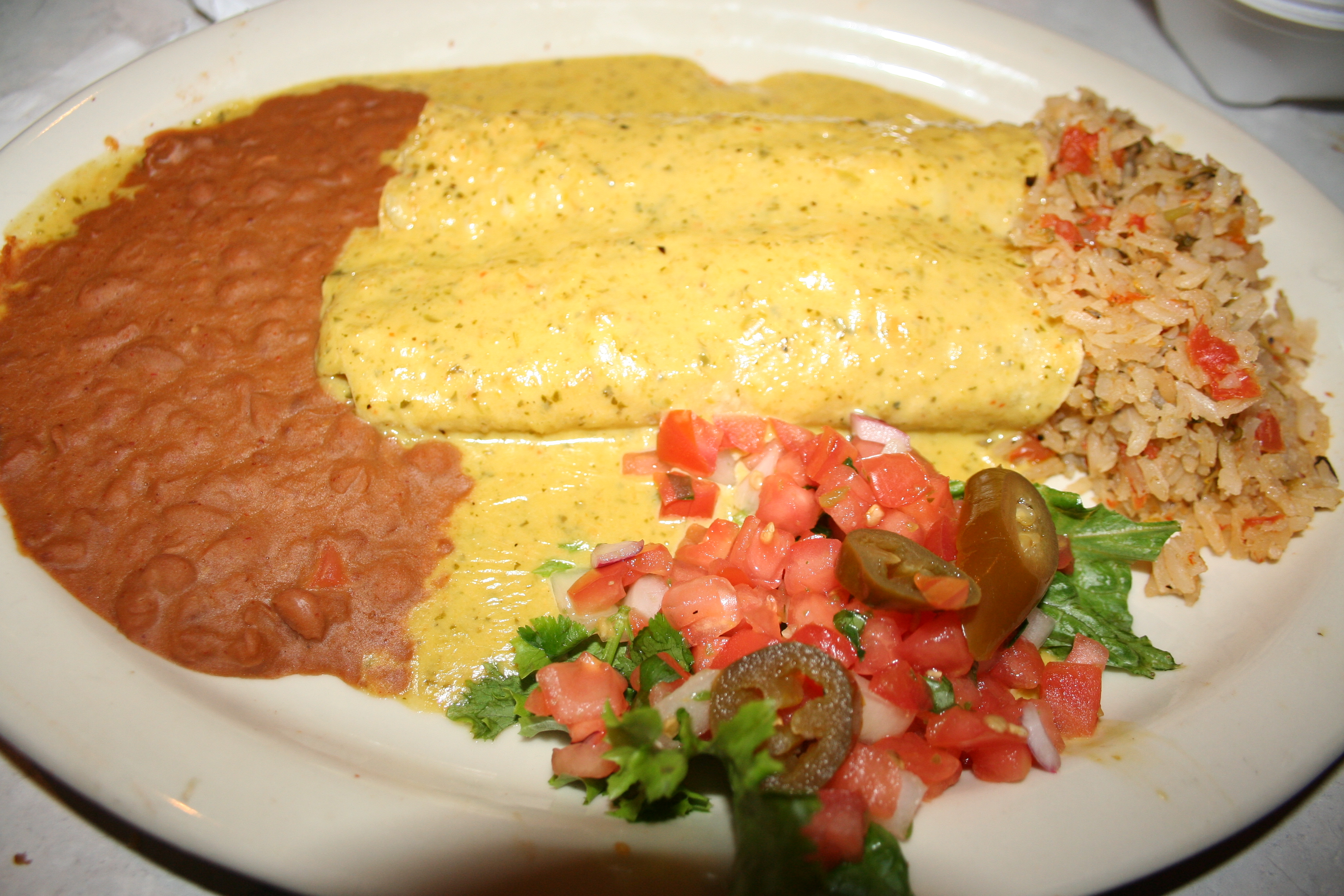 The spicy Chicka-Chicka Boom-Boom chicken enchiladas. (Photo: Mark Heckathorn/DC on Heels)