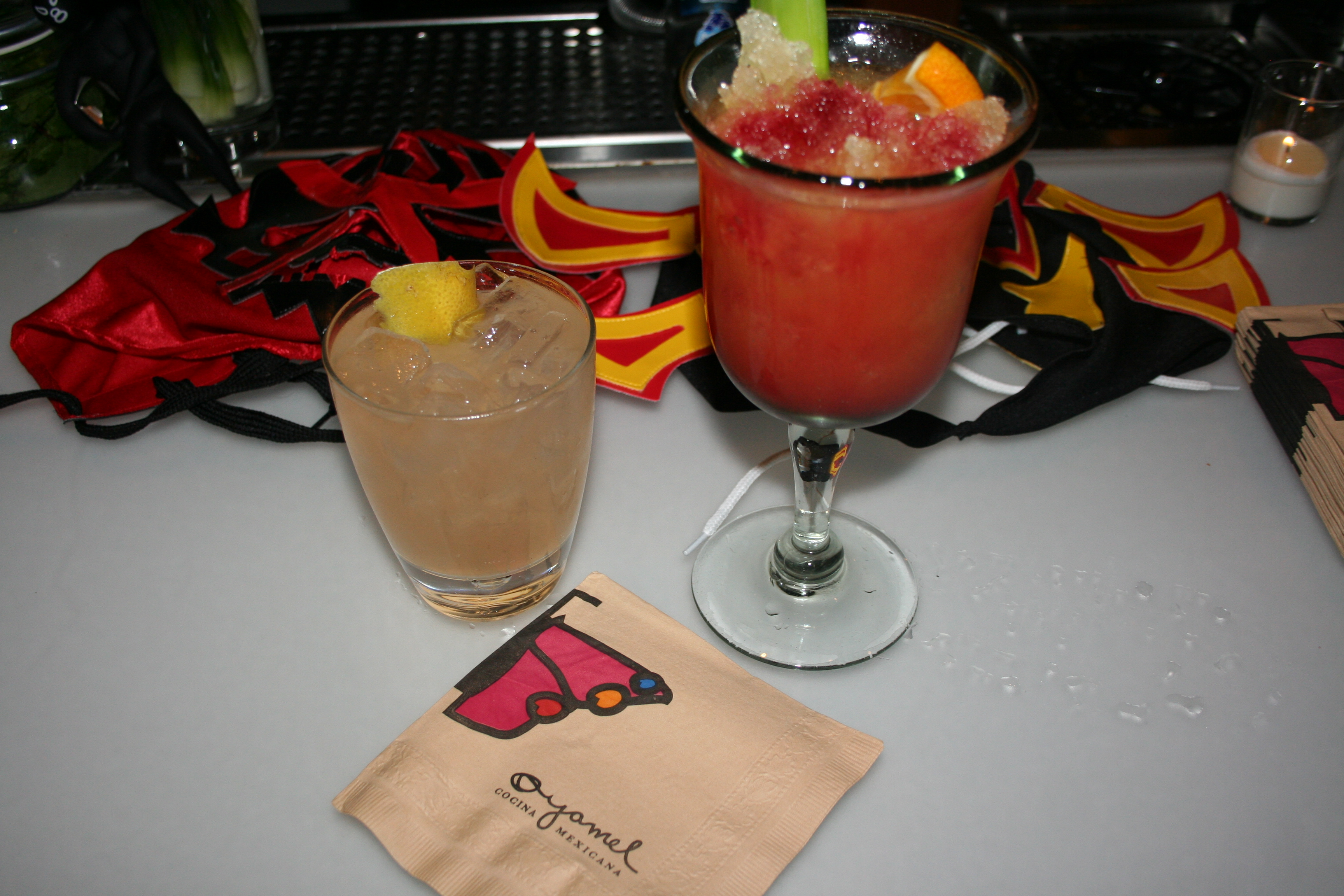 Featured drinks are The Witches Attack (left) and El Santo vs. the Zombies. (Photo: Mark Heckathorn/DC on Heels)