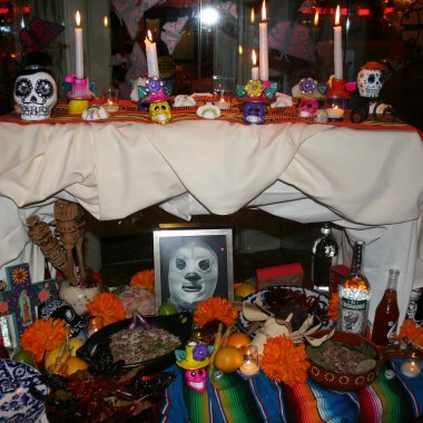 Oyamel's shrine honoring El Santo. (Photo: Mark Heckathorn/DC on Heels)