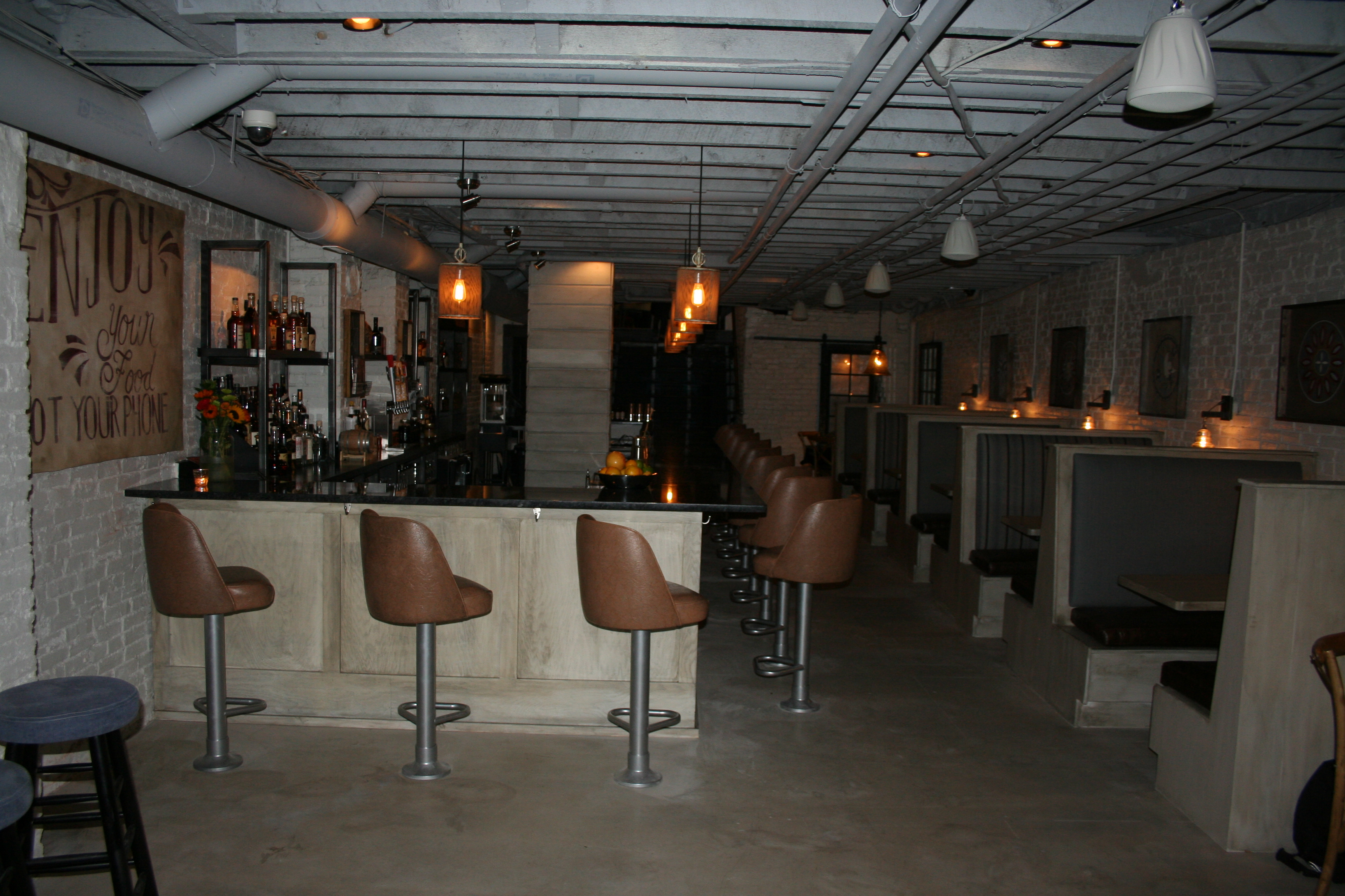 The first floor bar and dining room. (Photo: Mark Heckathorn/DC on Heels)