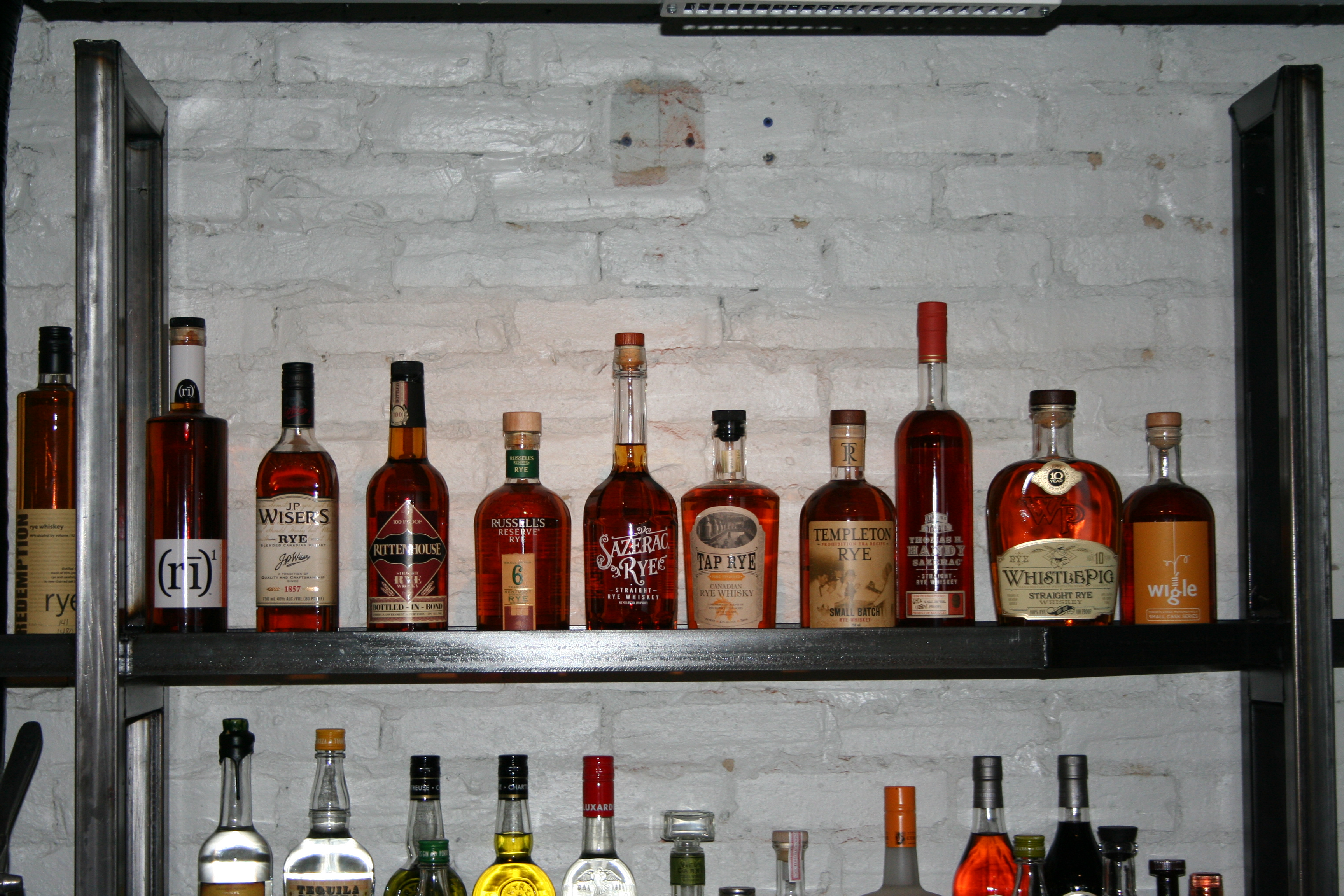 The bar features 29 kinds of rye whiskey. (Photo: Mark Heckathorn/DC on Heels)