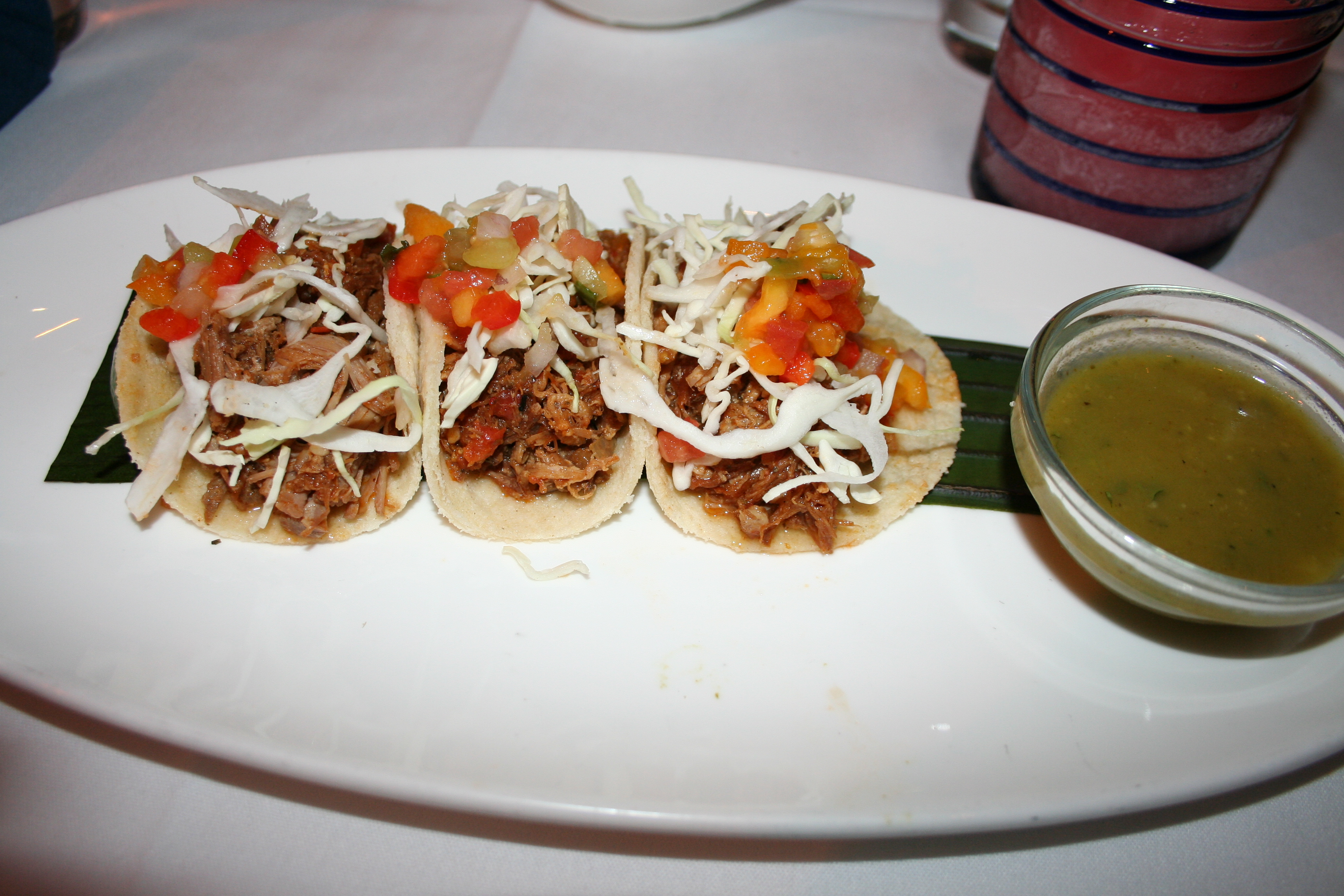 Soft tortillas filled with shredded pork. (Photo: Mark Heckathorn/DC on Heels)