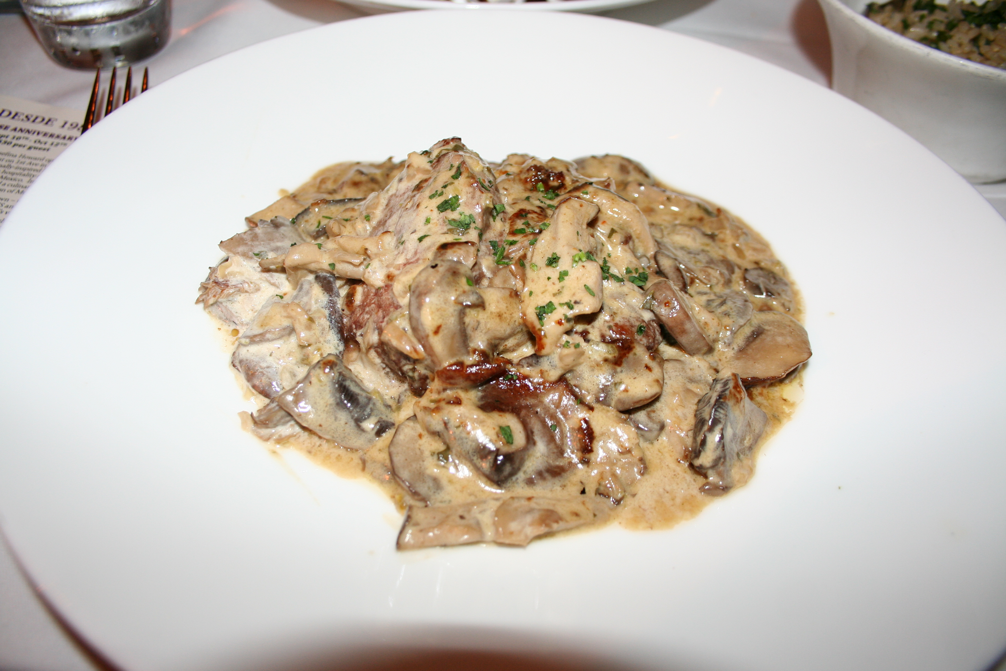 Filet mignon covered with wild mushroom tequila cream sauce. (Photo: Mark Heckathorn/DC on Heels)