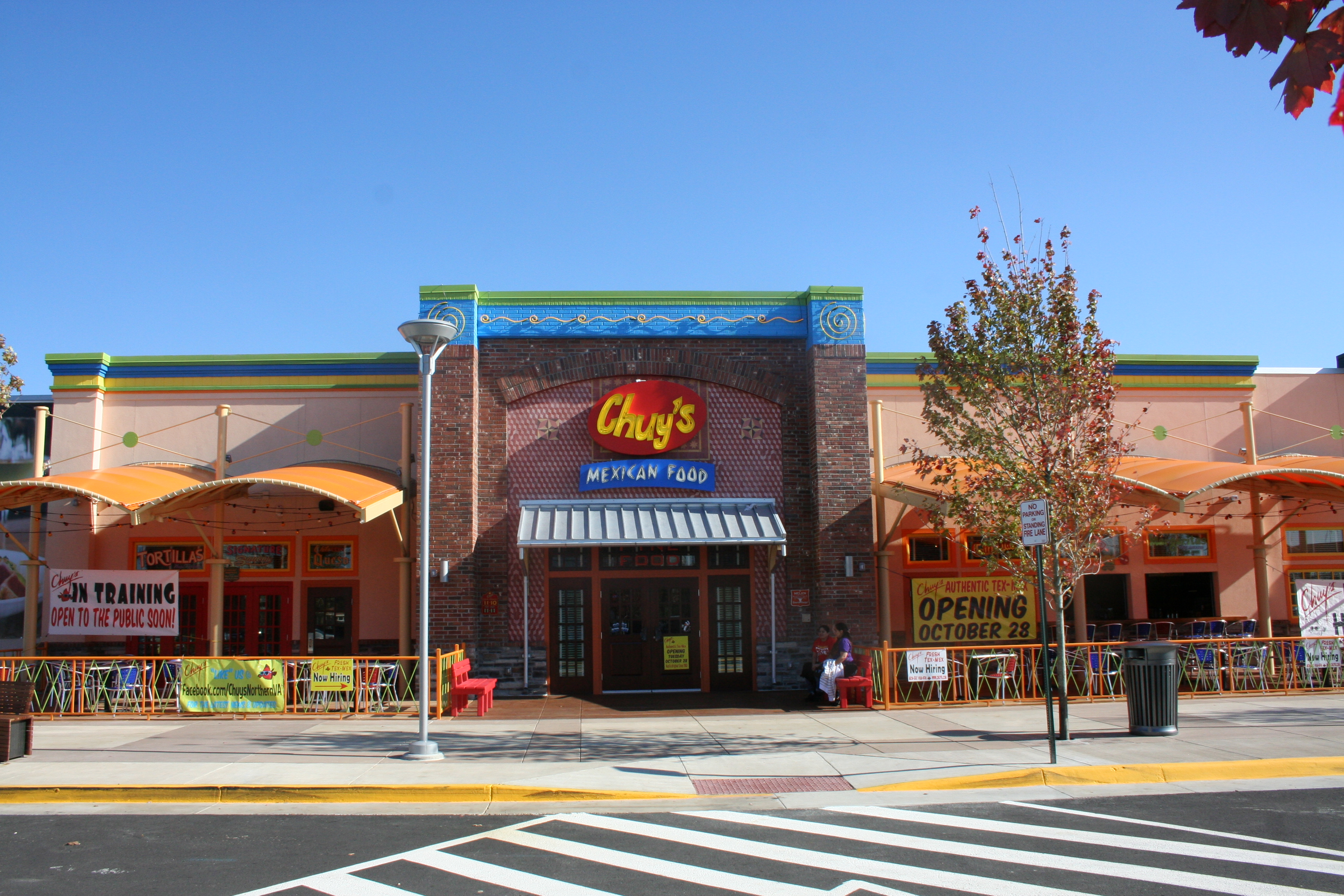 Chuy's Tex-Mex opened in Fairfax in September and at the new Springfield Town Center (above) in October. (Photo: Mark Heckathorn/DC on Heels)