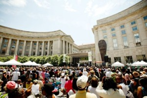 Folks at a concert on Woodrow Wilson Plaza at the Reagan Building. (Photo: About.com)