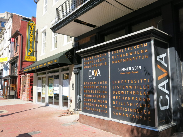 Cava Grill will open in the former Capital Q BBQ in Chinatown on Tuesday. (Photo: PoPvile)