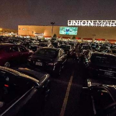 The drive-in returns to Union Market this month with Rushmore tonight. (Photo: Union Market)