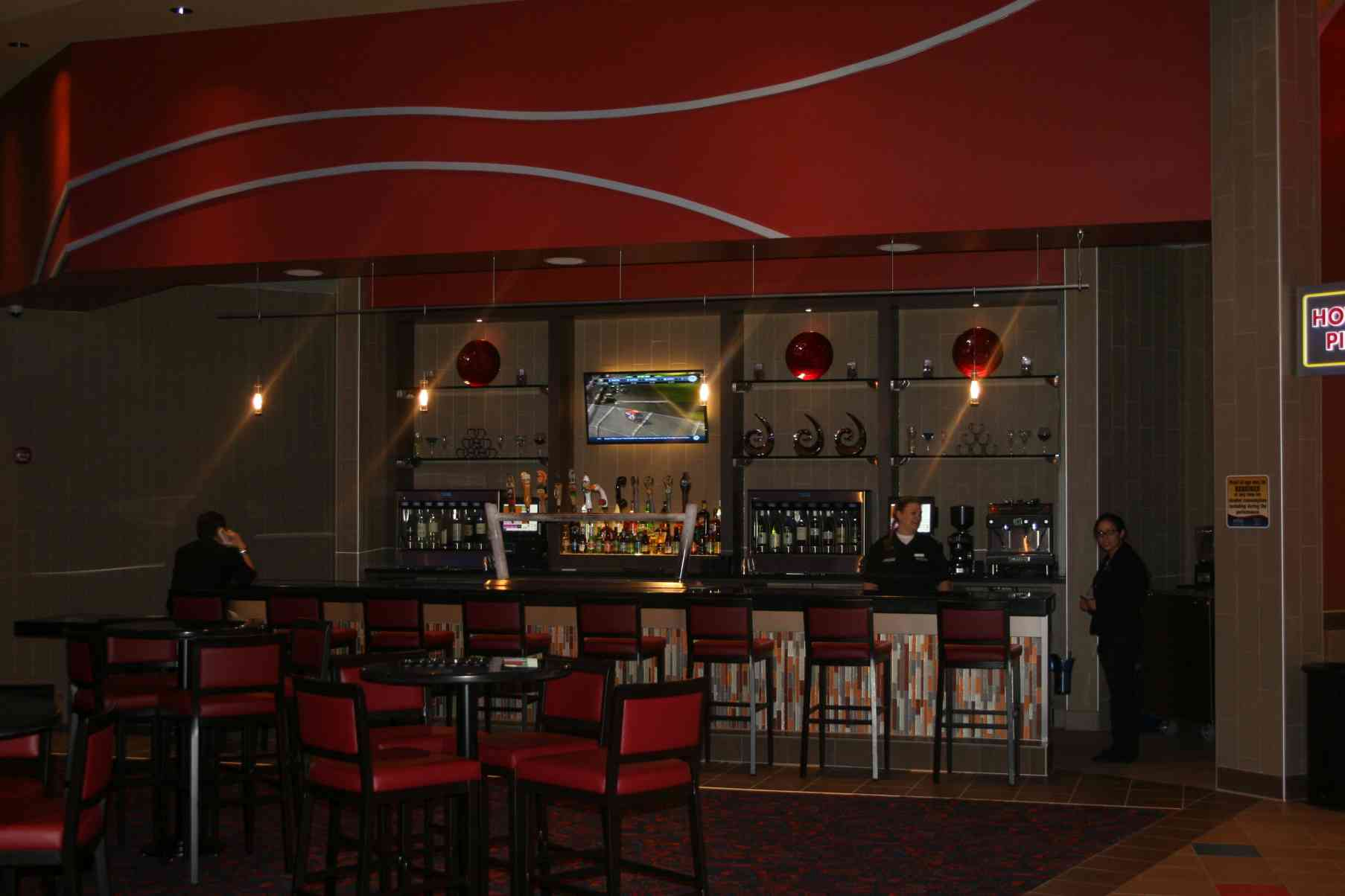 The bar at the Regal Cinema 12. (Photo: Mark Heckathorn/DC on Heels)