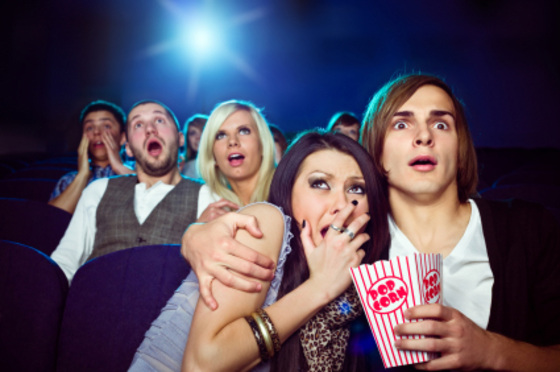 In public or at home, cuddling is always acceptable during a scary movie. (Photo: theimpersonals.com)