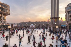 The ice skating rink at Washington Harbour in Georgetown opens this weekend. (Photo: Washington Harbour)
