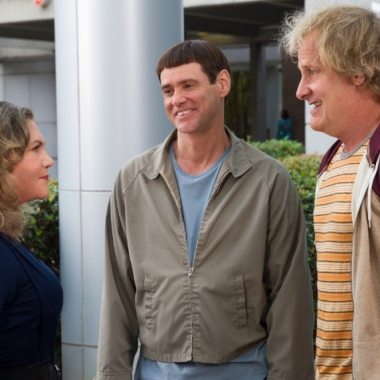 Kathleen Turner (l to r), Jim Carey and Jeff Daniels star in