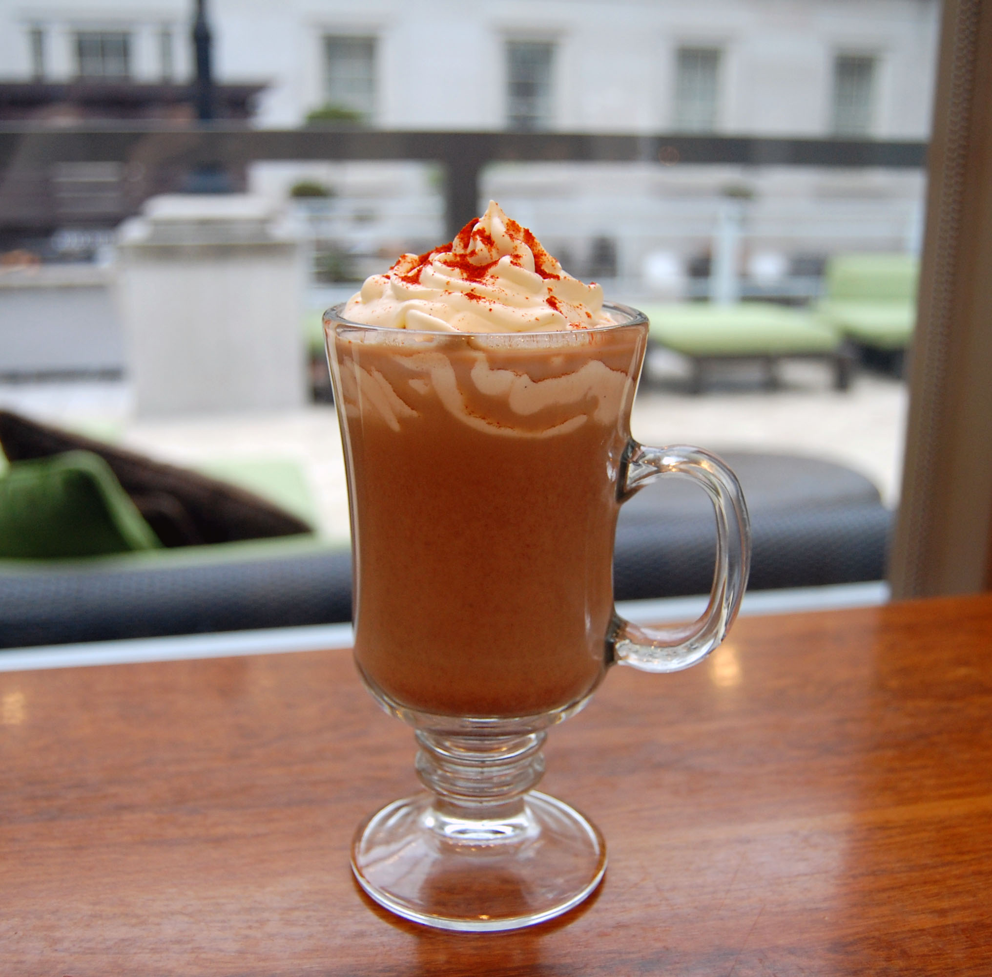 Holey Moley: chili pepper and cinnamon spiced hot cocoa (Photo: Poste Modern Brasserie)