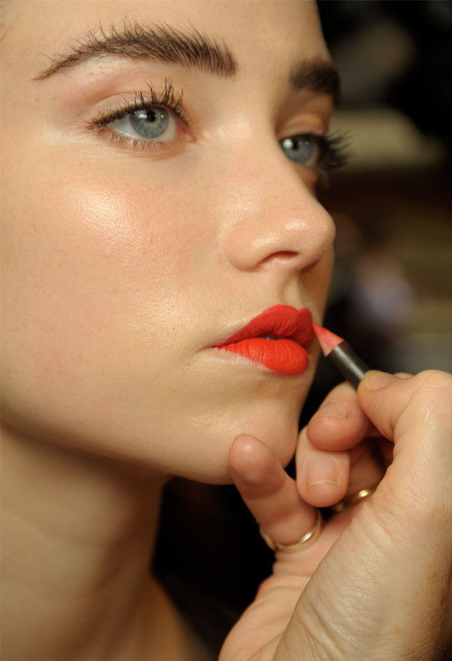 Use lip liner to shape and accentuate your lips (Photo: Luca Cannonieri/Go Runway)