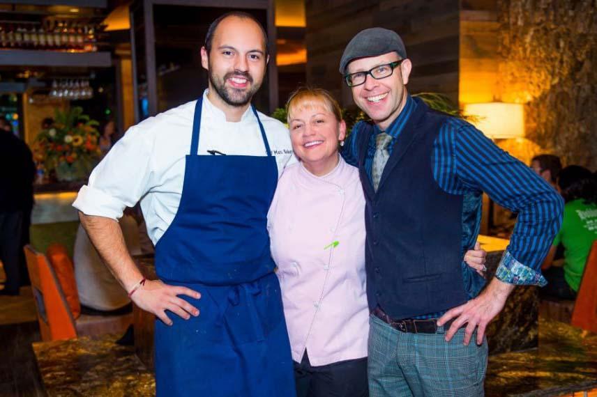 Executive chef Matt Baker (left), chef Sherry Yard and mixologist Adam Seger at City Perch. (Photo: Revamp)